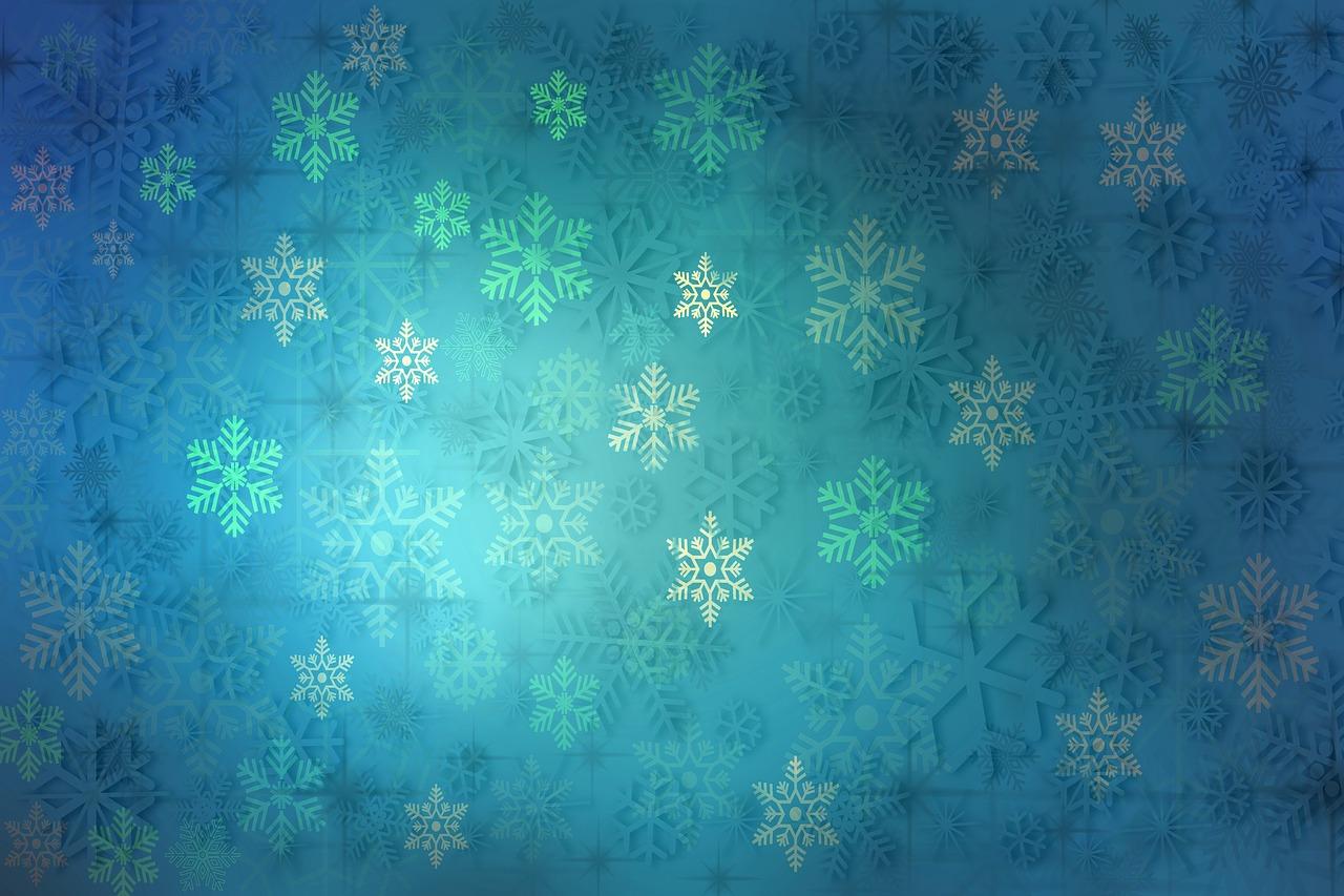 снежинки зима